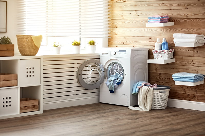 Rustic laundry room ideas with weathered wooden interiors