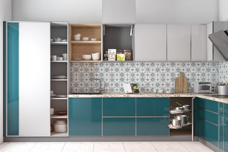 Modern sleek style kitchen designs with minimalist cabinetry and neutral colour shades