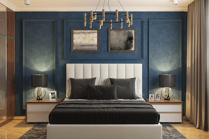 Velvet upholstered headboard define sophisticated and elegance to your bedroom
