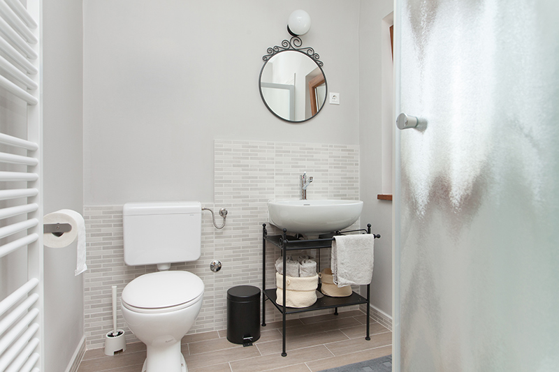 Wall-mounted washbasins are an excellent way for bathroom designs for small spaces.