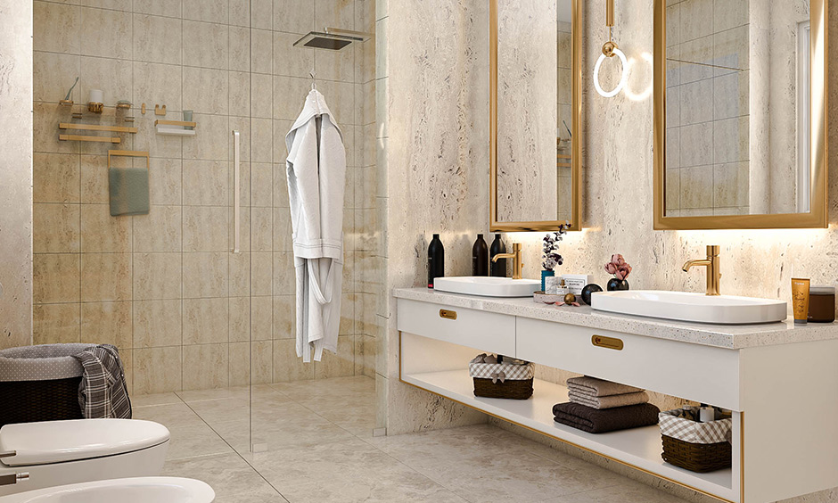 Beige and gold bathroom color design this duo is everything luxury can offer.