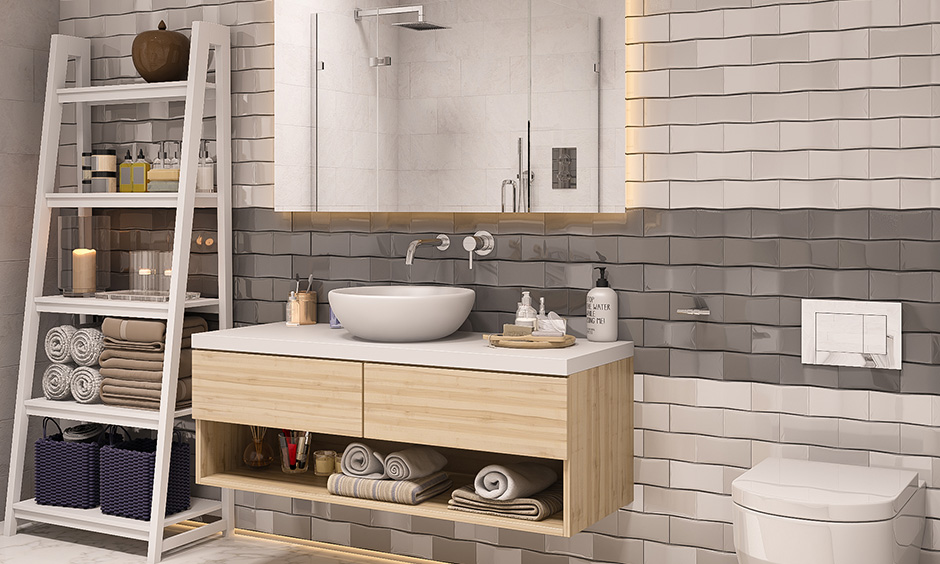 Grey and white bathroom paint color complement each other beautifully and also stand out when introduced alone.