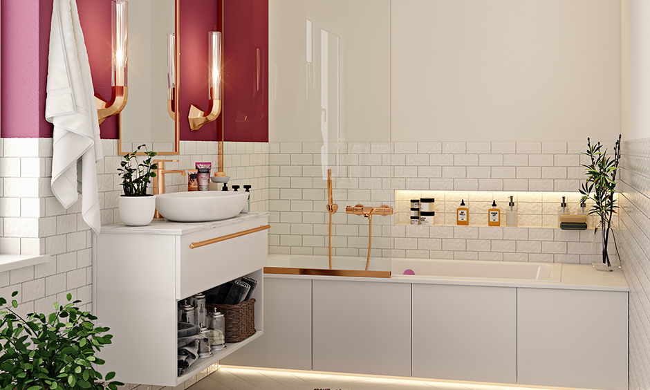Bathroom color combinations mauve, rose and gold this duo will remind you of spring!