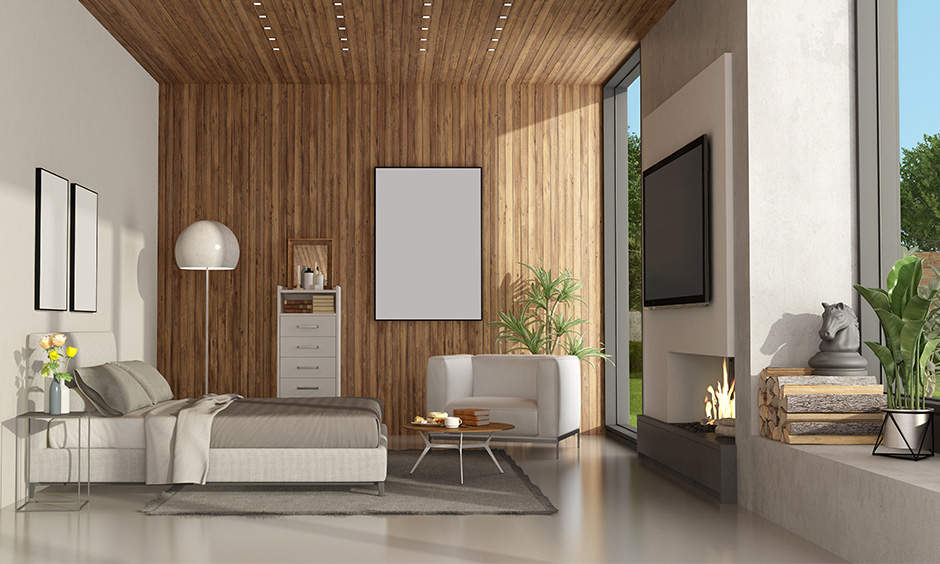 Ashwood is a robust, dense and durable wooden wall designs bedroom.