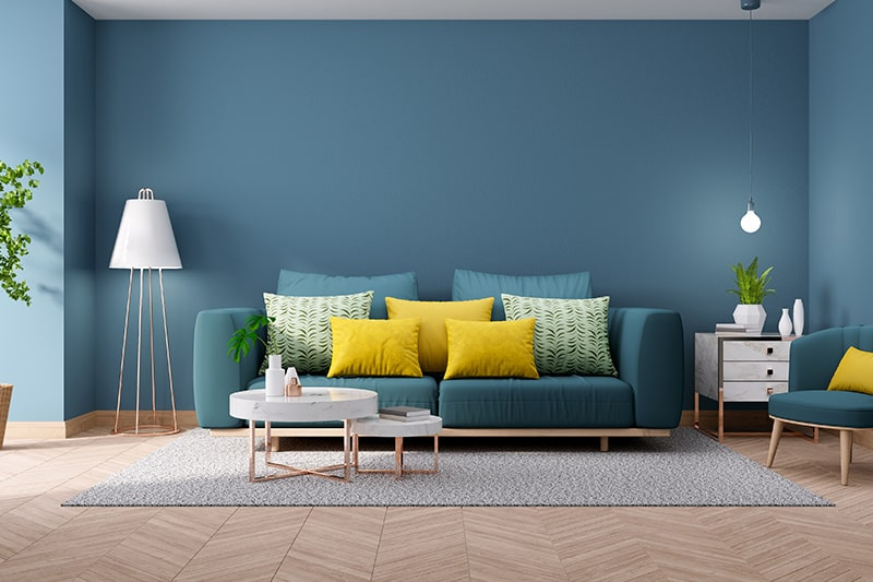 Blue living room color schemes