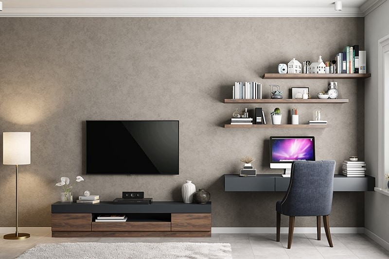 Textured wall finishes are types of finishes for home interiors which add depth and bring in character to any space
