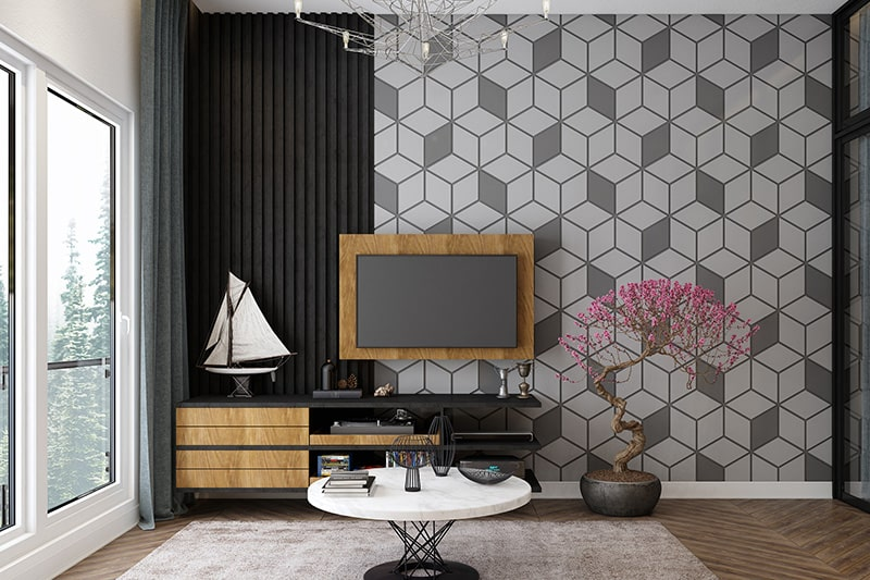 3d wall paintings and types of wall finishes offer an artistic touch to dull walls