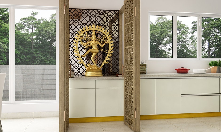 Traditional wooden jali door designs for your pooja unit