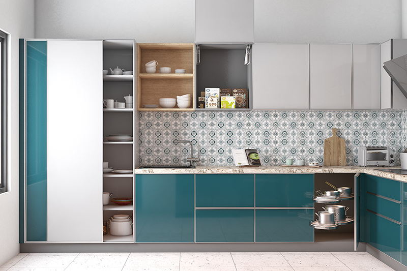 This kitchen finish is a kitchen lacquer made up of high-quality glass and extremely durable and does not fade easily