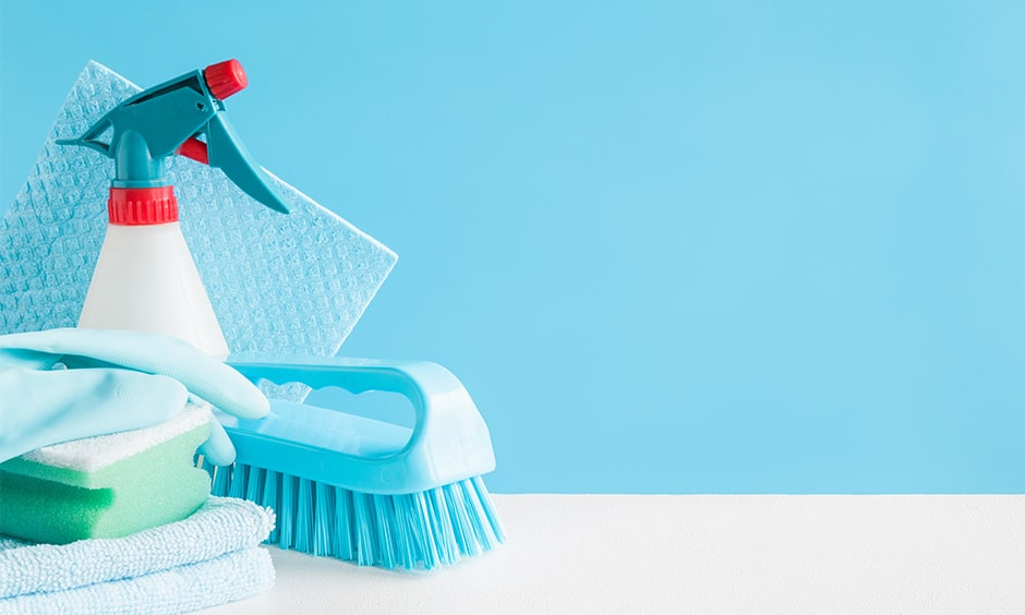 Home cleaning and disinfecting surfaces to prevent coronavirus infection and covid 19 transmission