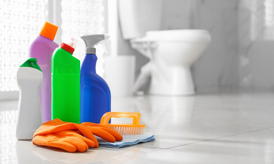 Disinfect your bathrooms and toilets of your home during covid19 coronavirus