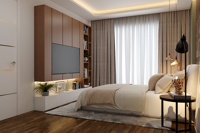 Plywood for bedroom which is strong, durable and lightweight which is suitable for wardrobes