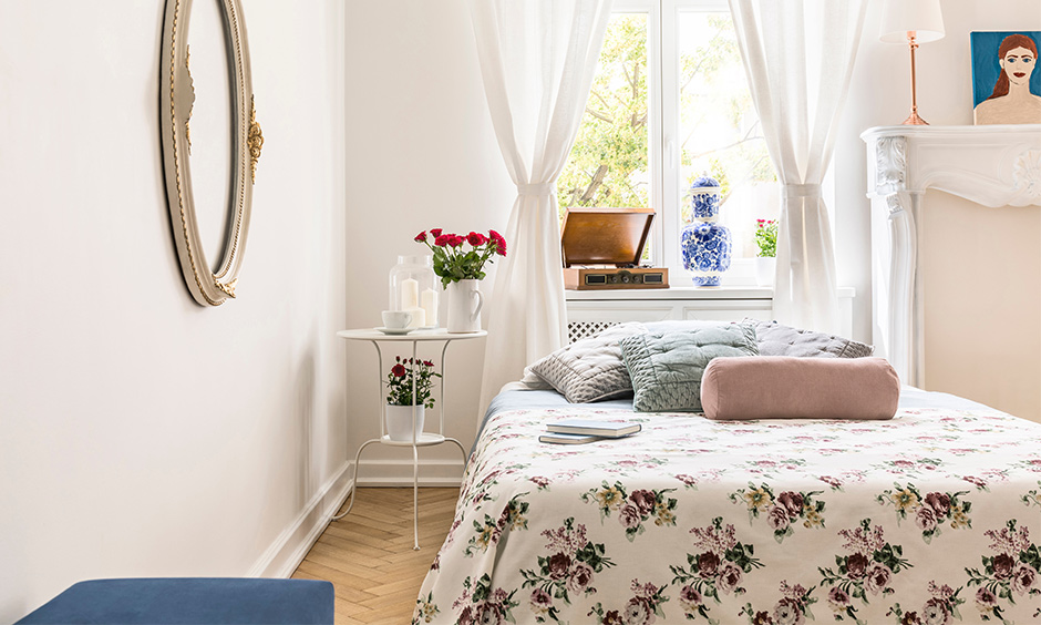 Cozy bedroom near a window gives you ample natural light during the day and the option to stargaze in the night.