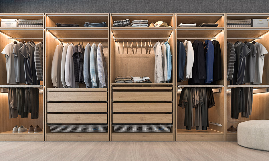 Best closet organiser system for your home where you can organise shelves and baskets easily