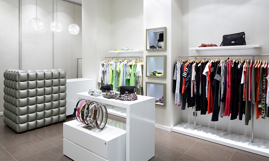 Entry closet organisation ideas with as island or a walk-in wardrobe where you can  maximise storage space