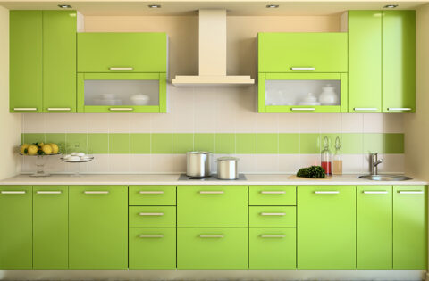 Green kitchen design ideas for your home