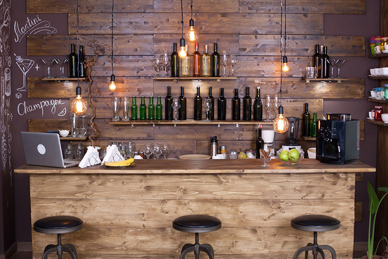 Home bar unit, people love making different types of mocktails and cocktails - this will keep refreshed all day!