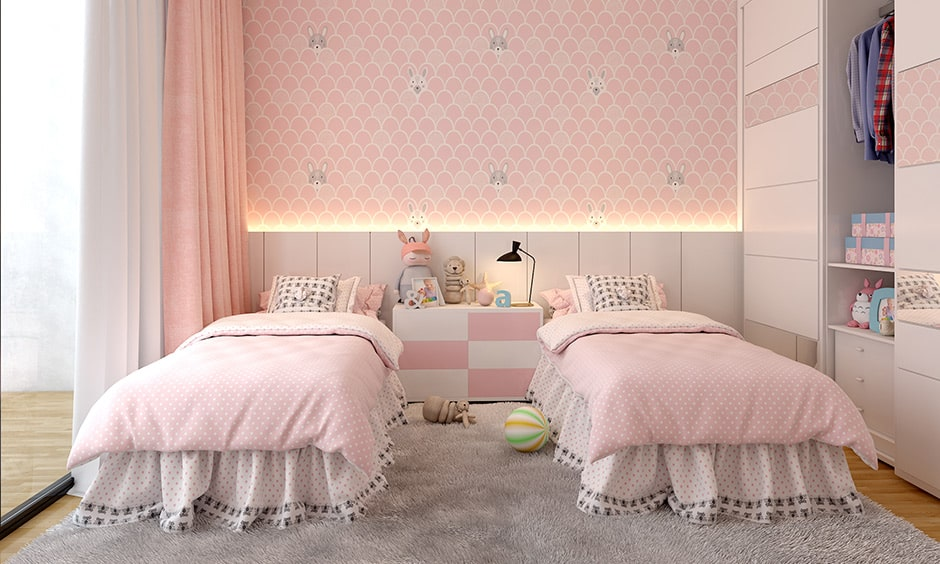 Design your childrens/kids room with pull-out desks, wardrobes and drawers makes makes their space memorable and fun