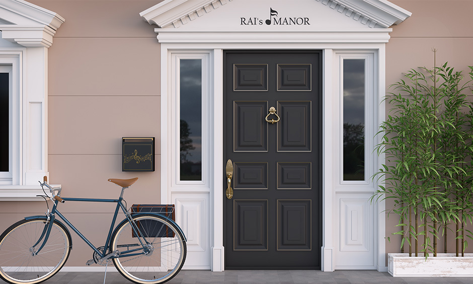 If you love black and not sure what color to paint on front door then you can choose this black beauty