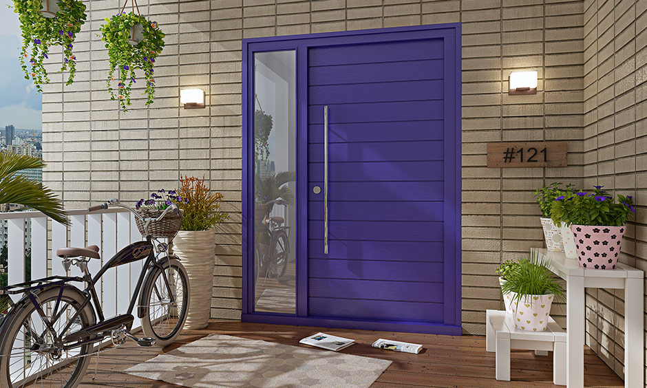 Blue front door paint colors which is an extremely welcoming colour