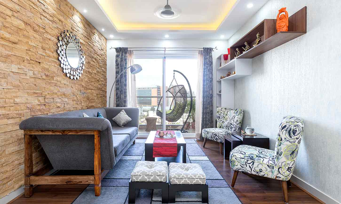 2.5 BHK home designed by Design Cafe best home interior designers in Bangalore