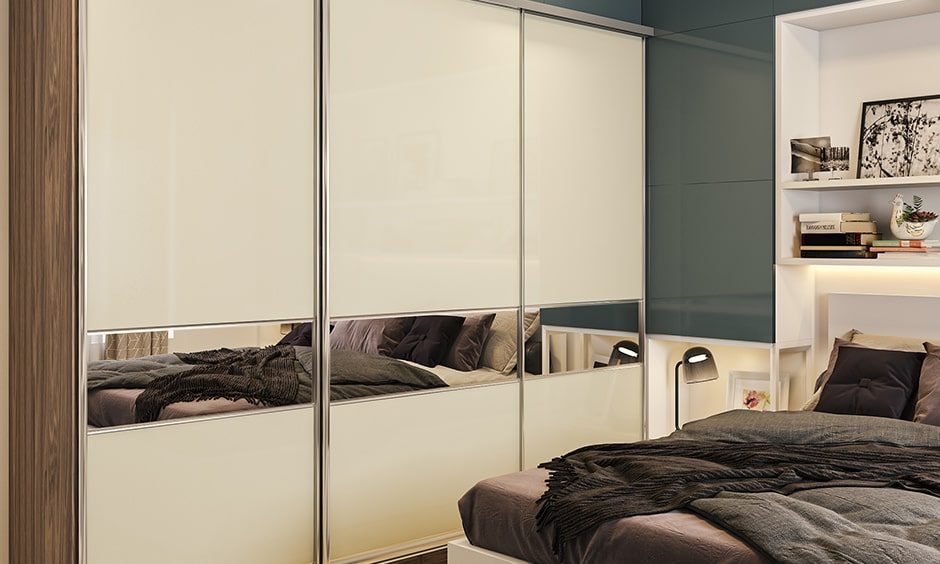 Lacquered or ceramic glass finishes are the easiest to maintain and clean, used in wardrobe shutters and kitchen
