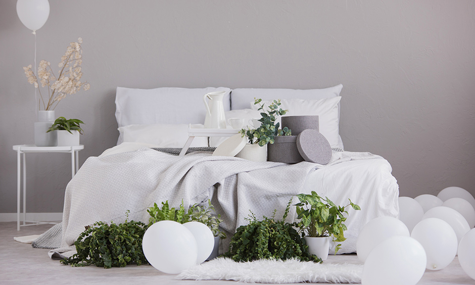 Mothers day room decoration with two neutral shades, white and grey brings out an elegant look to your home on this mothers day decor