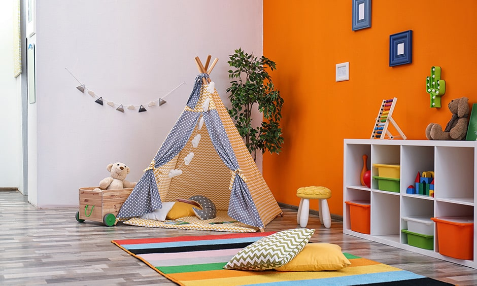 Corner of your home turn it into a playroom, its a best playroom design ideas