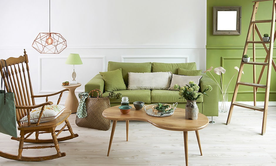 Green living room colors with green couch makes a beautiful green living room images