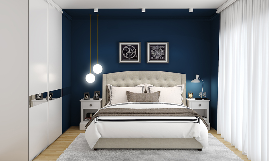 Romantic master bedroom colors with the concept of Vastu