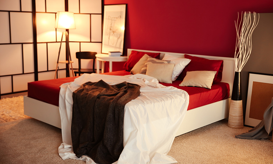 Best colors for master bedroom with a valentine feel with colour of romance which is red