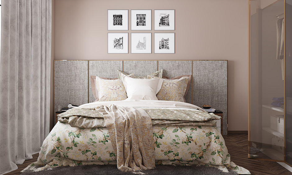 Master bedroom wall colors with beige colour to bring a contrast look