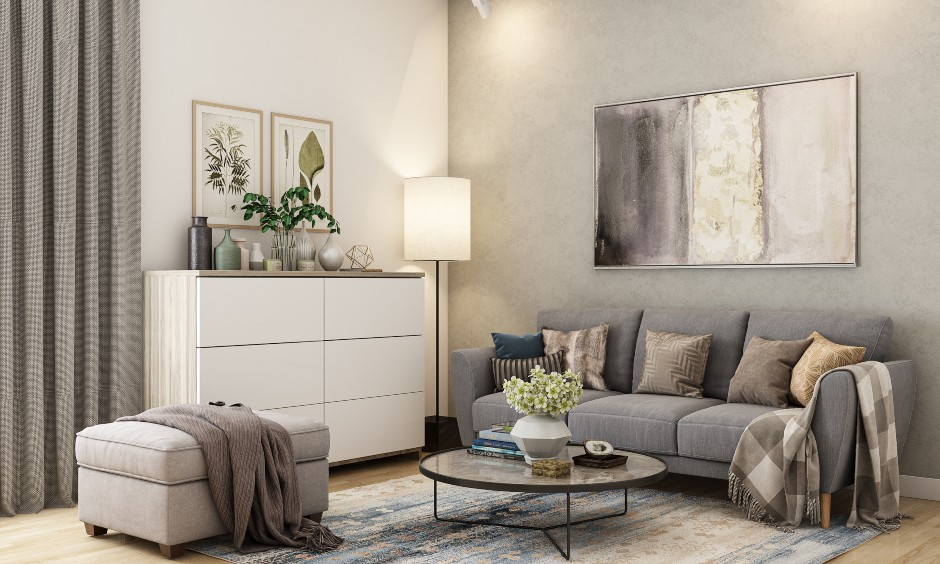 Living room interior design with a minimal style to make beautiful room design