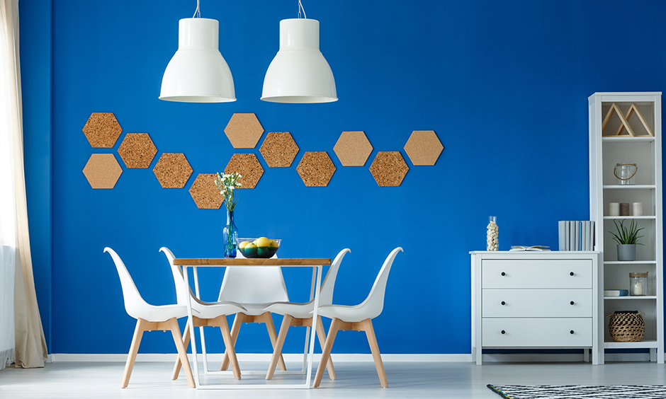 Large wall art ideas diy with a hexagonal wall art you can paint in various shades