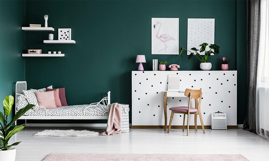 Childrens bedroom colour schemes with green and white bring in freshness in kids bedroom colors