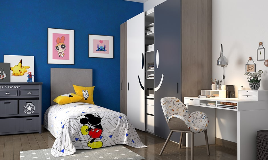Childrens bedroom paint ideas with blue and white is a magical colour combination for children's bedroom