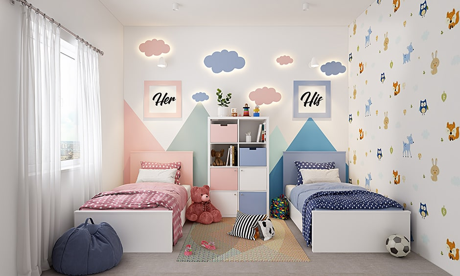 Colour combination for your children's bedroom