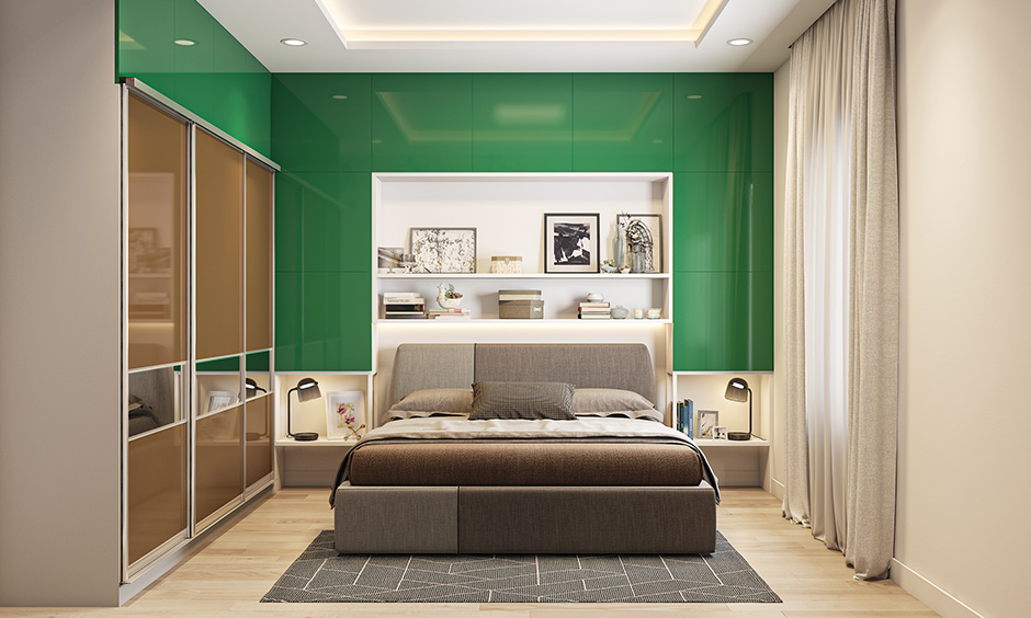Bottle green paint colors for bedrooms will make it calm, invigorating, comforting and refreshing.