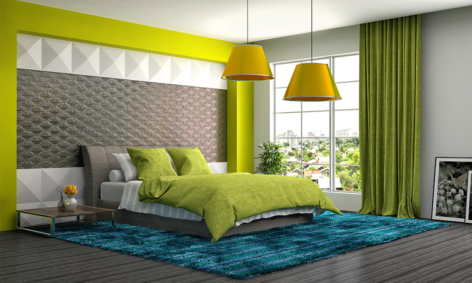 Go green bedroom curtains are the best way to bring in soothing and pleasant shades of nature.