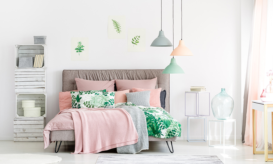 Pink and green bedroom colors combination it can go well with any style contemporary to rustic.