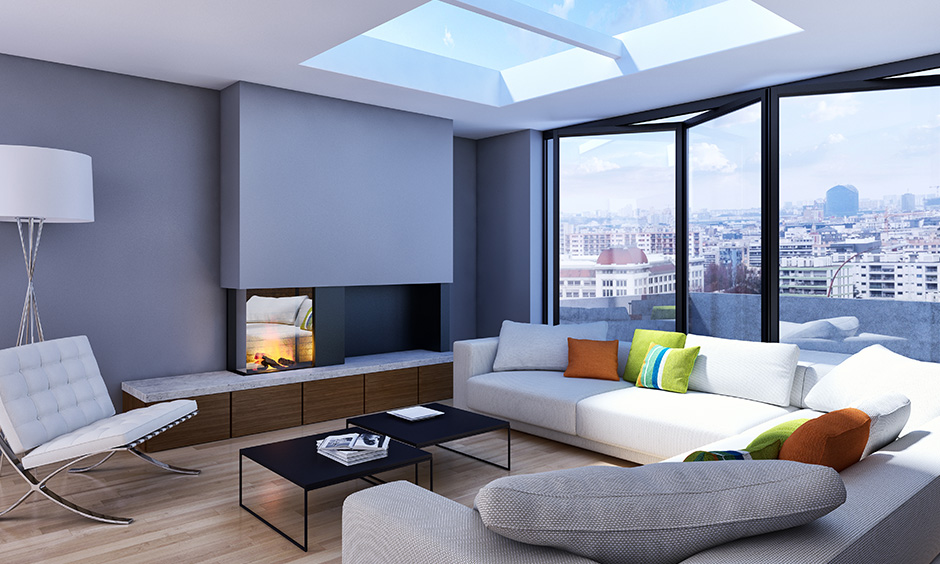 Foldable glass wall panel for the living room will look astounding and allow natural light to flow.
