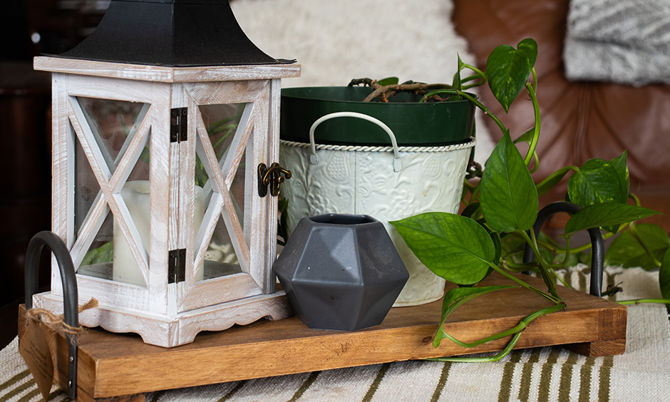 Consider doing DIY crafts furniture pieces like plant pots, serving trays, night lamps, pastry jar, and decorative vases.