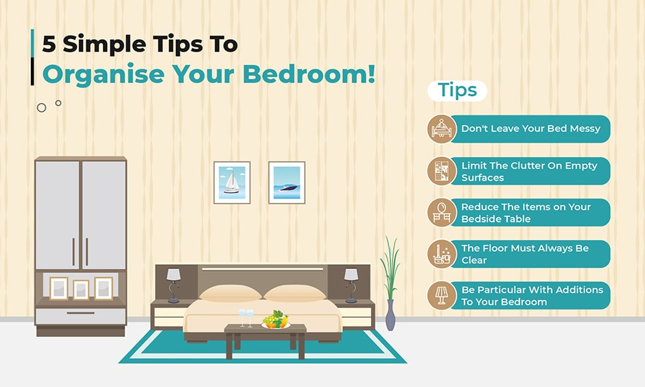 5 simple tips to organise your bedroom