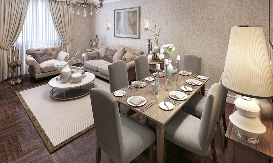 Wallpaper design for dining room, pick the right style of dining room wallpaper that blends with the overall aesthetics of the room.