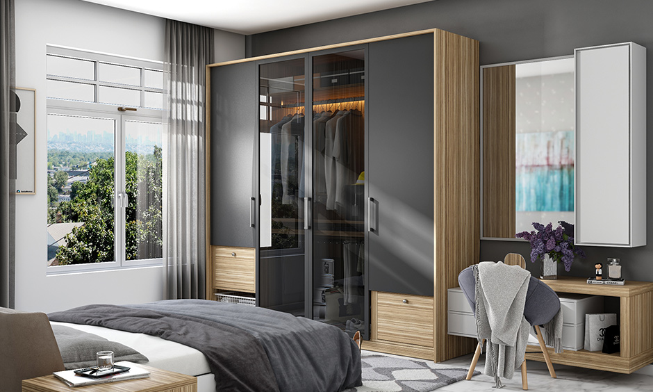 Material and finishes are an essential thing to consider while choosing or designing a wardrobe for bedroom