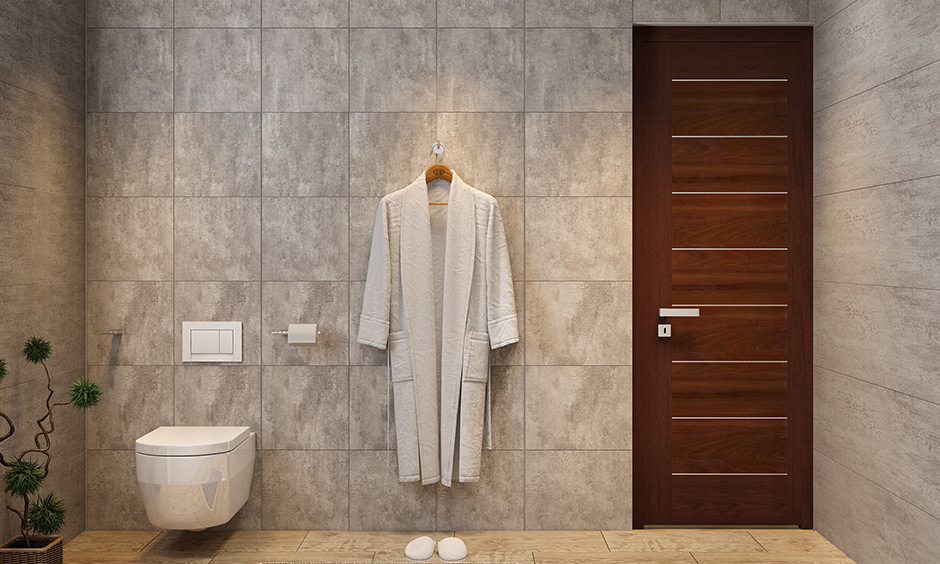 Classic wooden bathroom doors which is a first choice for Indian homes