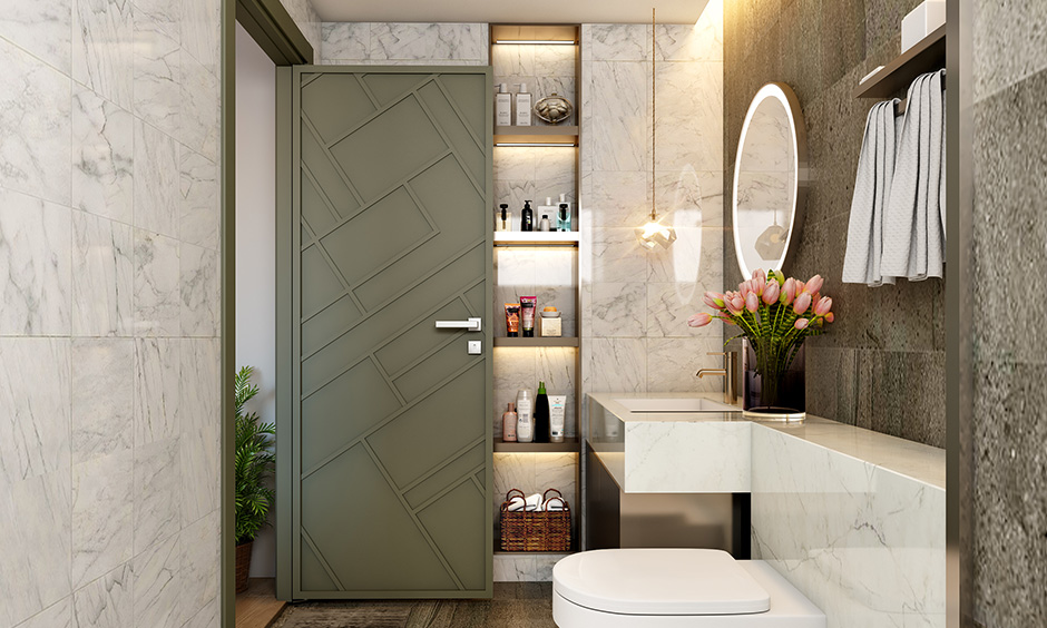 Master bathroom door design latest with premium materials and finishes with a stylish bathroom door design