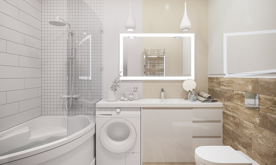 Bathroom mirror design with a light mirror makes your bathroom modern style