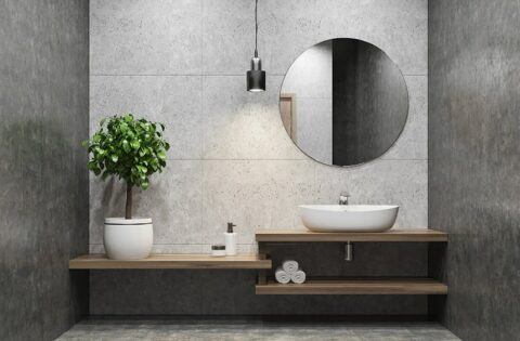 Bathroom mirror design ideas with a vertical mirror for your bathroom makes dynamism