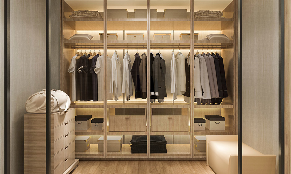 Dressing cupboard designs which are luxurious with walk-in-closet which are minimal and classy